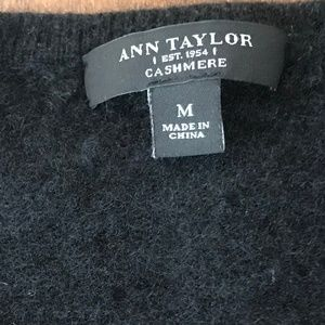 Ann Taylor Black Cashmere Sweather